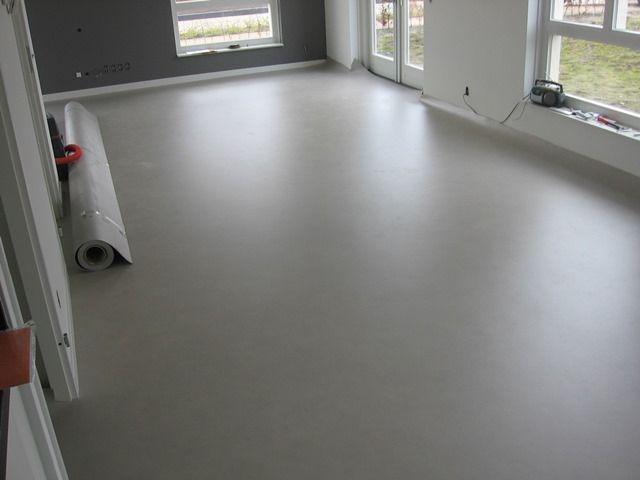 Vinyl beton look vloer