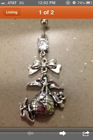 Belly ring with eagleglobe and anchor pendant handcrafted belly ring with eagleglobe and anchor pendant handcrafted found this on aloadofball Images