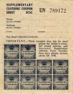 world war 2 clothing coupons