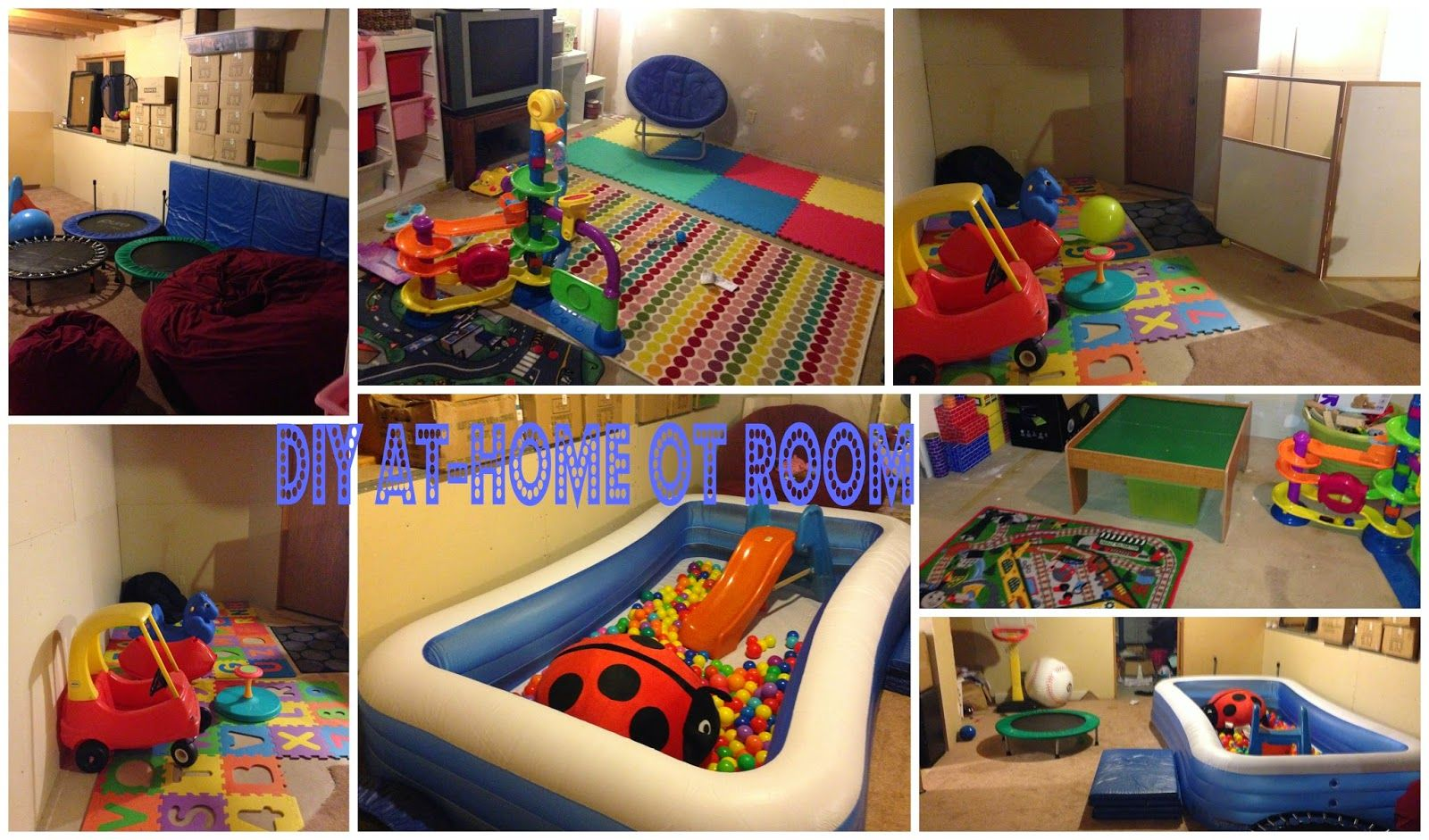 Simply Blessed Journey Of Life DIY Occupational Therapy Play Room In Unfinished Basement