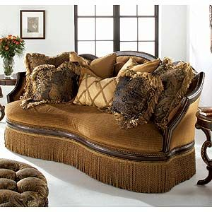 Degas Exposed Wood Accent Sofa By Schnadig