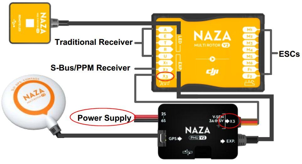 Quadcopter Naza Wiring Diagram