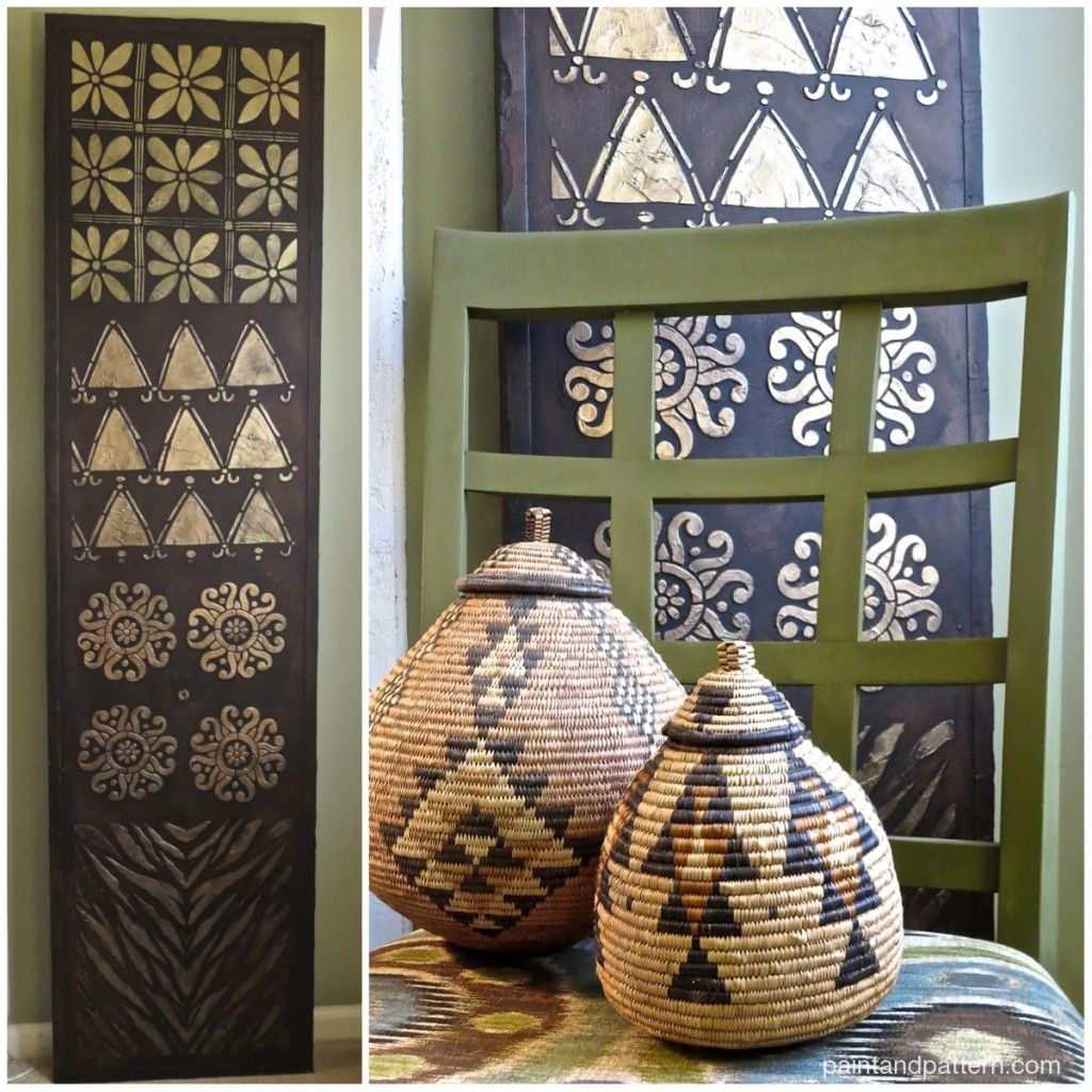 African Home Decor By 3rd Culture: African Kuba Cloth Panel: DIY Custom Art With African