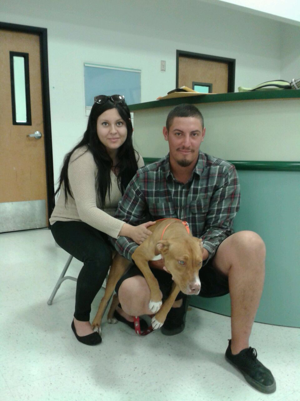A new family at PETSMART Adoption Weekend Sept 1213