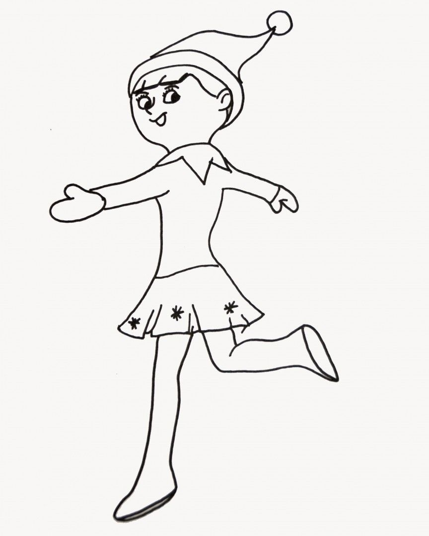 http://colorings.co/girl-elf-coloring-pages/ | Colorings | Pinterest