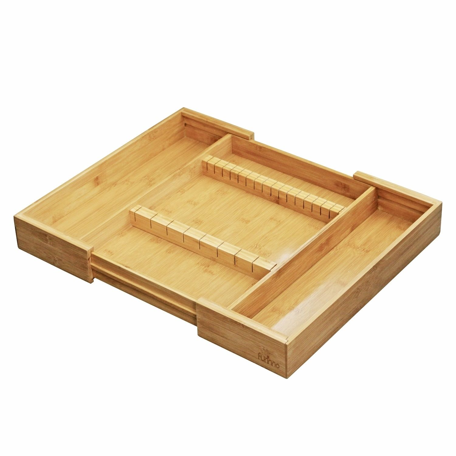 Furinno DaPur Bamboo Expandable Drawer Organizer with Cutlery