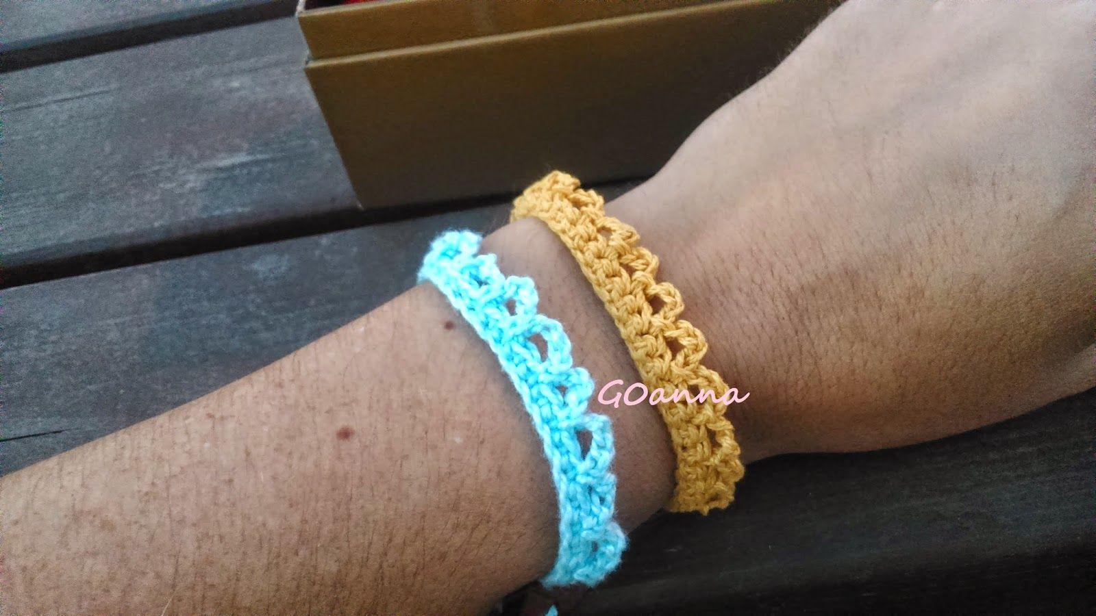Blog de Goanna: Tutorial Pulsera de Ganchillo - Crochet