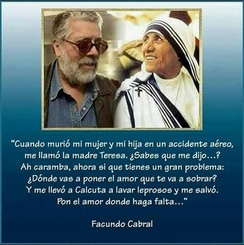 Facundo Cabral Mother Teresa Quotes Baseball Cards
