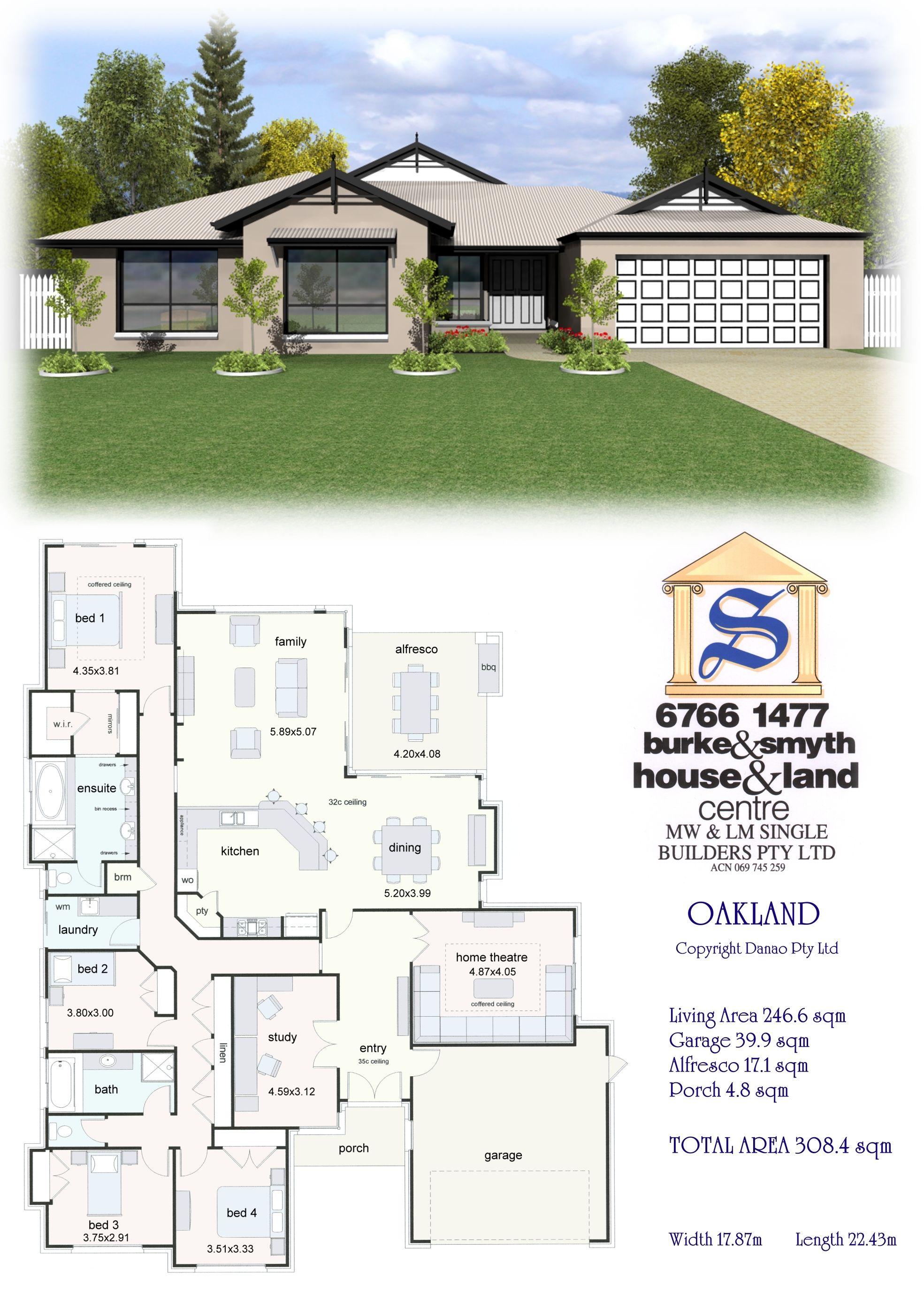 Single Builders I Oakland House Plan | House plans | Pinterest ...