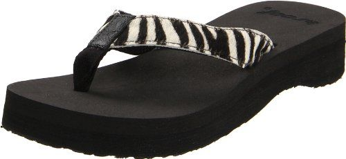e93562433f3 Reef Womens Butter Safari Thong SandalBlackZebra8 M US    Want to know  more