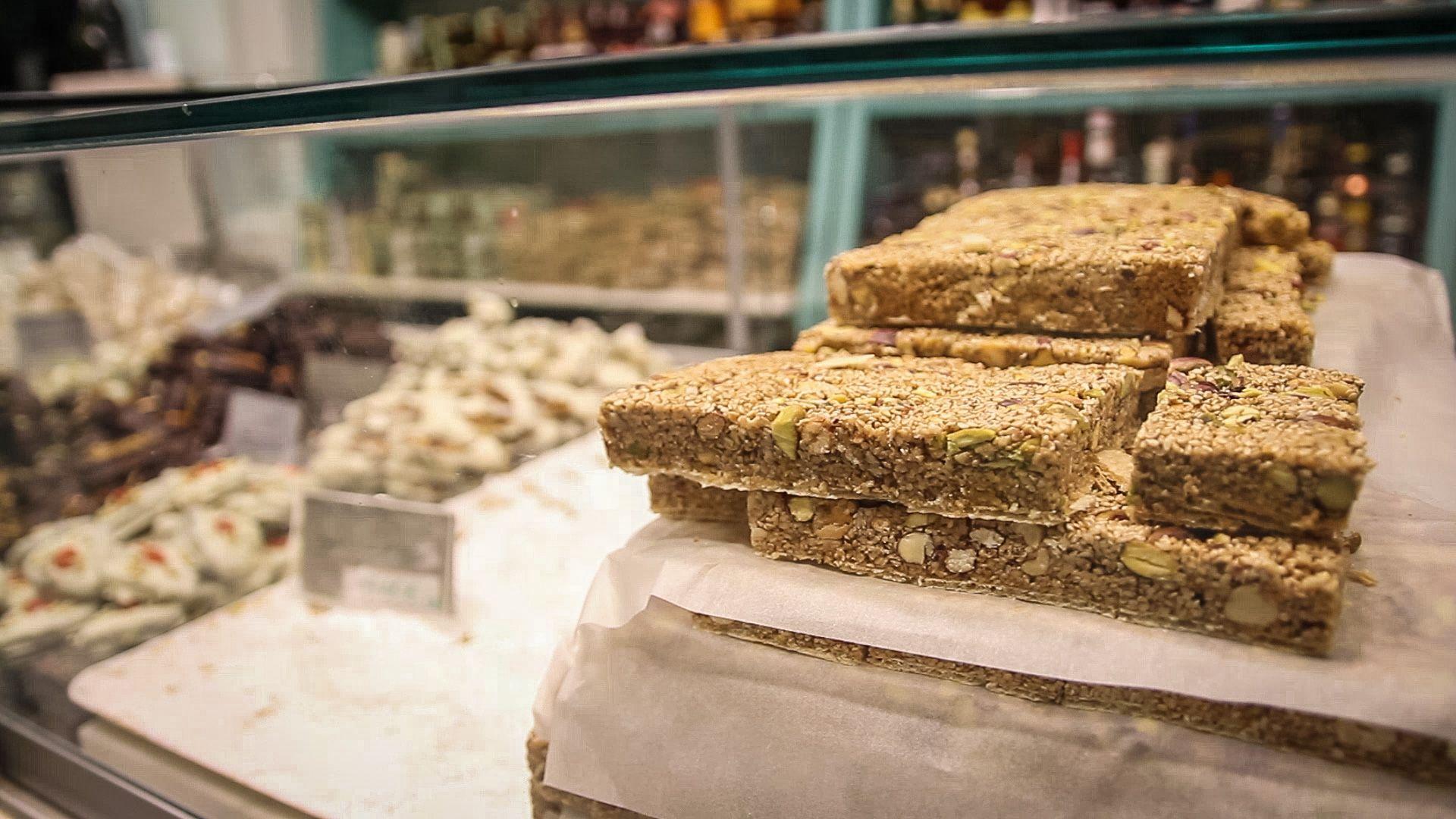 - Aegina, Greece - Pistachio brittle - pastelli - Traditional Sweets