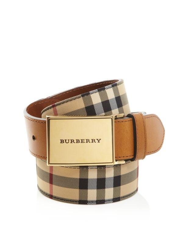 df4954caf5c Burberry London Charles Horseferry Check Belt