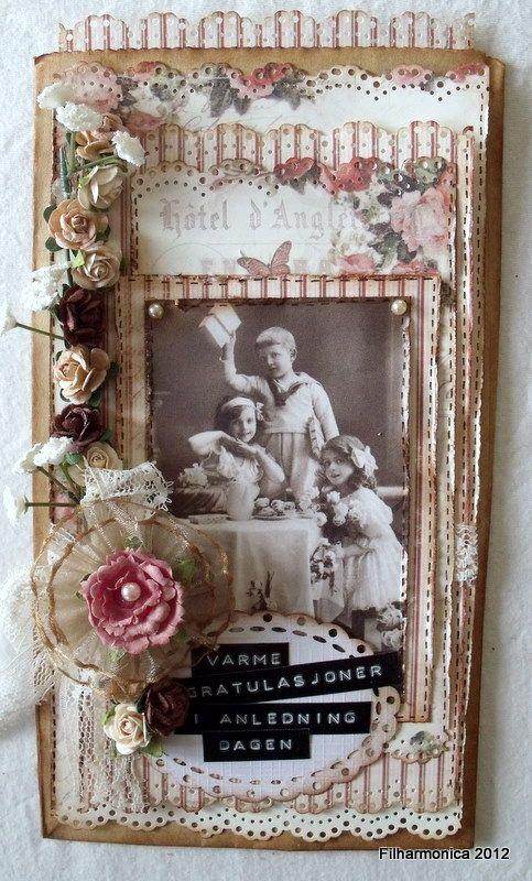 Vintage card paper bag