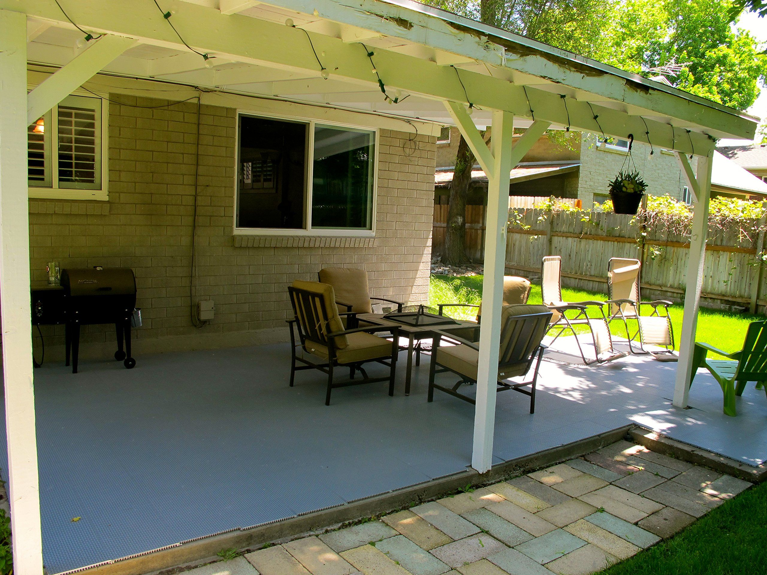 Amazon duragrid indoor outdoor interlocking 12x 12 deck and the easy to install easier to maintain flooring surface for patios and decks almost any flat space to protect or dress up your deck dailygadgetfo Gallery