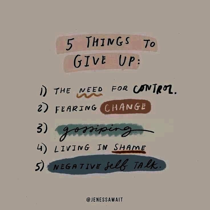 to give up  1 Giving up the need for control can o JENESSA WAIT on Instagram 5 things to give up  1 Giving up the need for control can often at times feel the hardest thi...