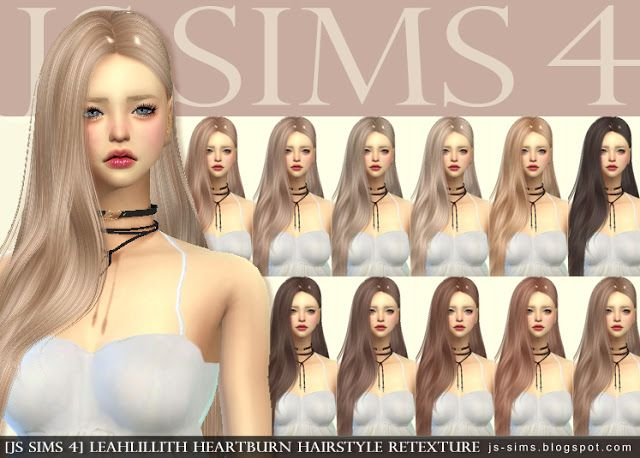 Sims 4 CC's - The Best: Heartburn Hair Retexture by JS Sims 4