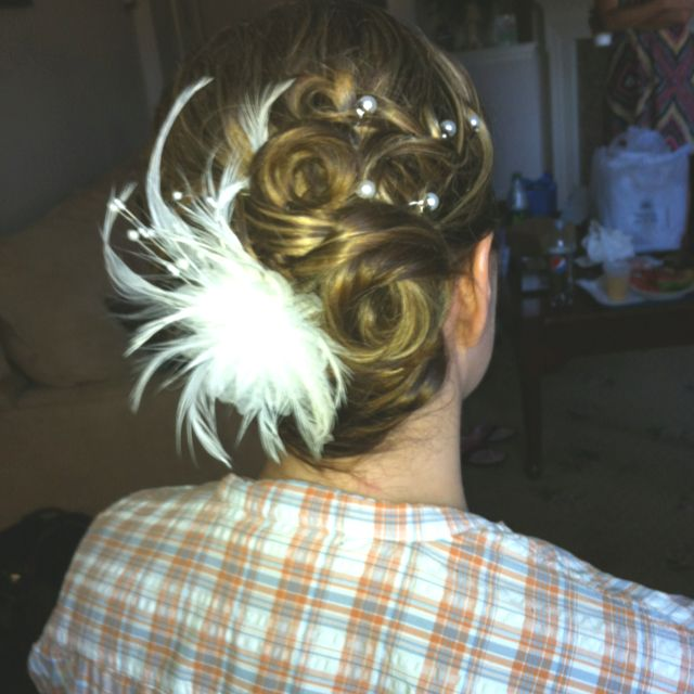 Another brides up-do