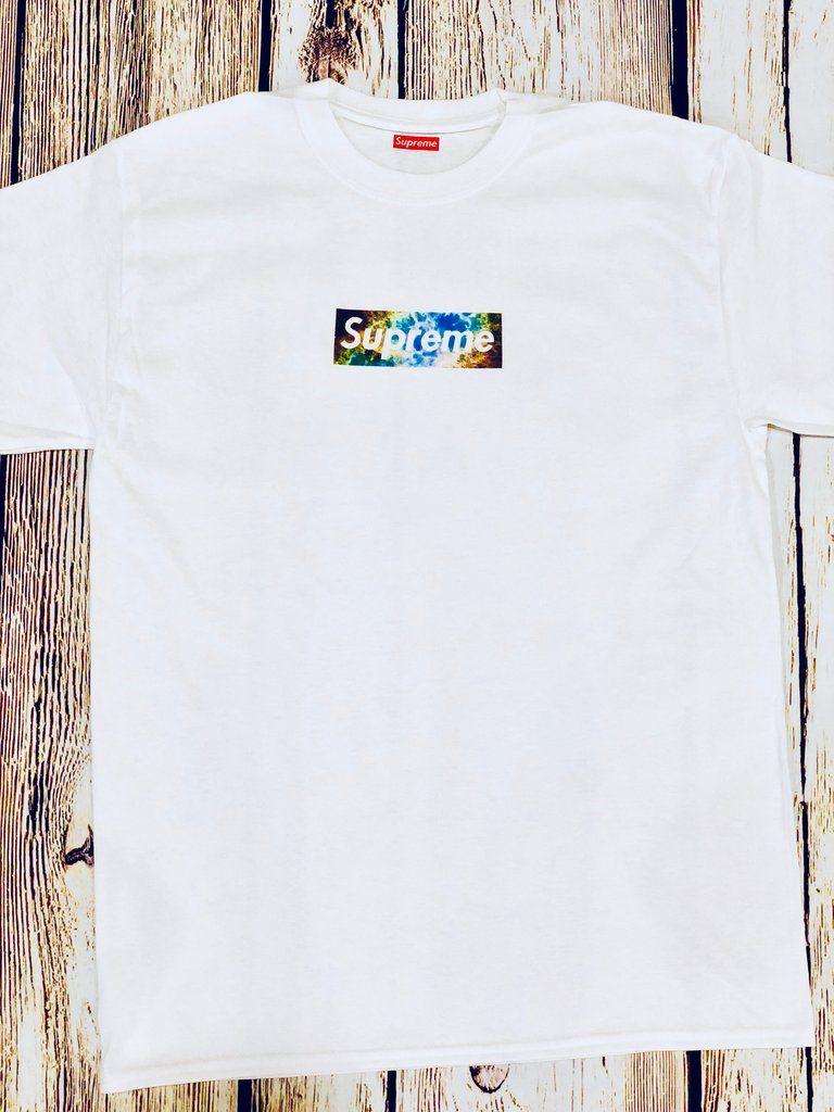 d515eb146d82 Supreme box logo galaxy unisex shirt Supreme T-shirt Supreme Galaxy Tee  Supreme box logo