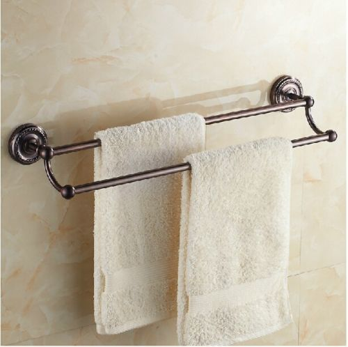 Oil Rubbed Rose Purple Bathroom Dual Pole Towel Rack Wall Mount Towel Bar   eBay