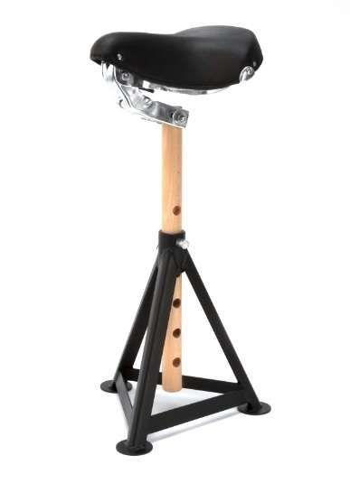 Bicycle seat stool