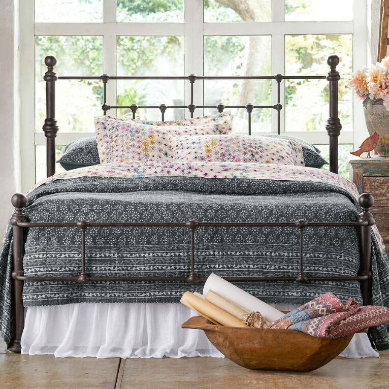 Monopole bed White iron beds, Rod iron beds, Bed