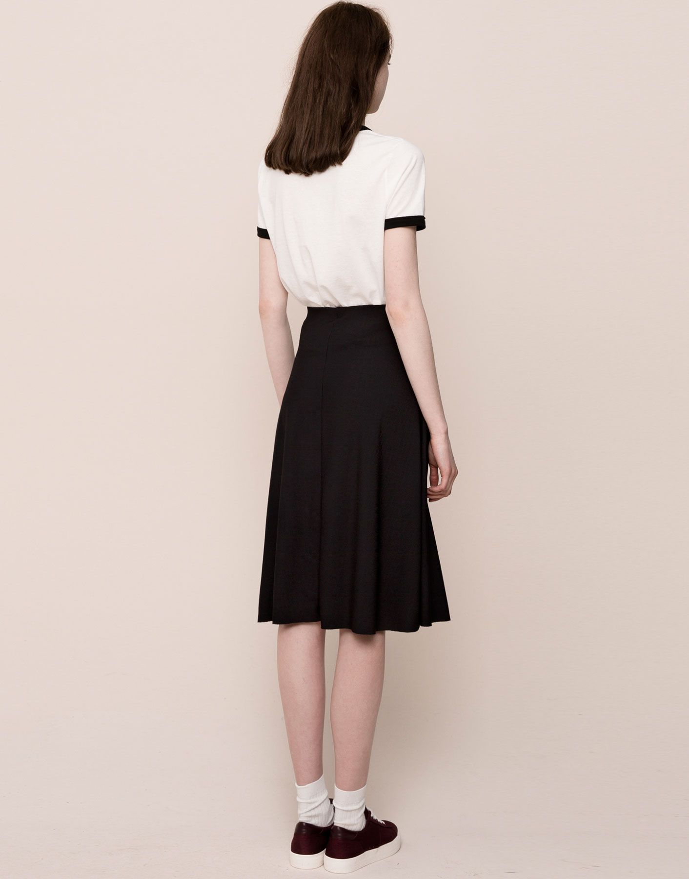 FLARED RIBBED SKIRT - SKIRTS - WOMAN - PULL&BEAR Sweden