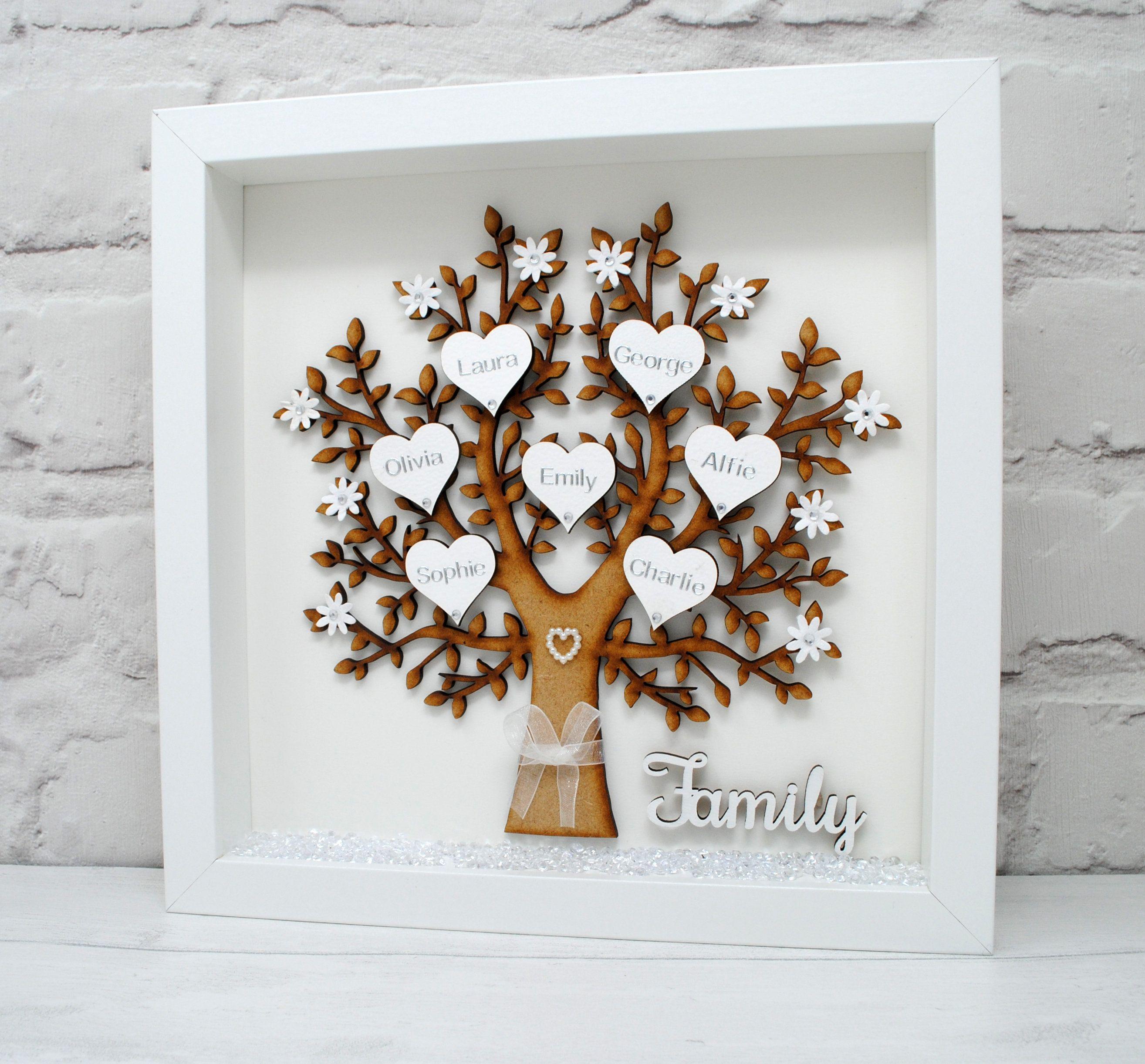 Personalised Family Tree Frame Family Names Keepsake Mum Gift Grandparents Gift Personalised Gi Family Tree Gift Personalised Family Tree Family Tree Frame