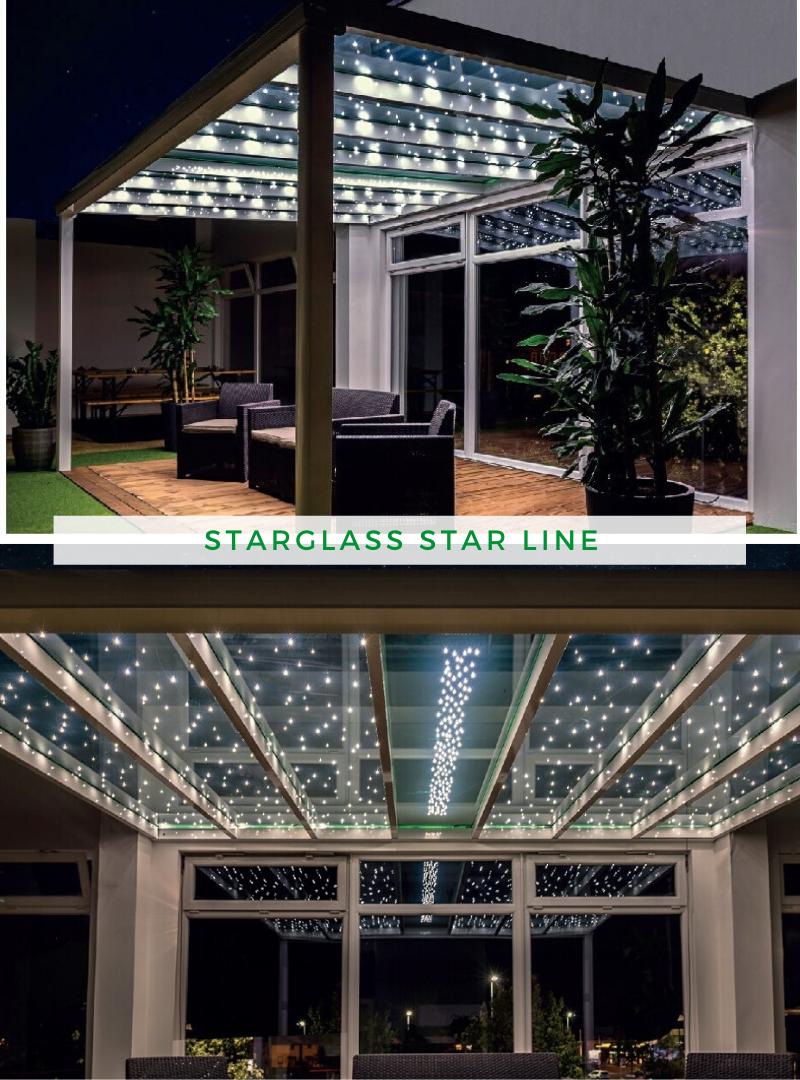 Beleuchtung Garten Starglass Star Line In 2020 Beleuchtung Garten Terrassenbeleuchtung Terrassenuberdachung