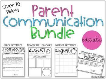 Photo of Parent Communication Bundle – Editable Templates
