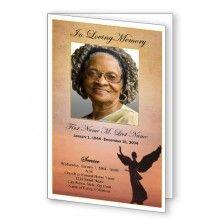 Beloved Angel Funeral Program Template  Memorials
