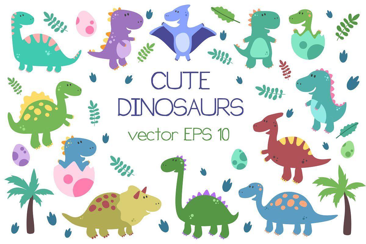 Cute Dinosaurs Cute Dinosaur Dinosaur Illustration Dinosaur