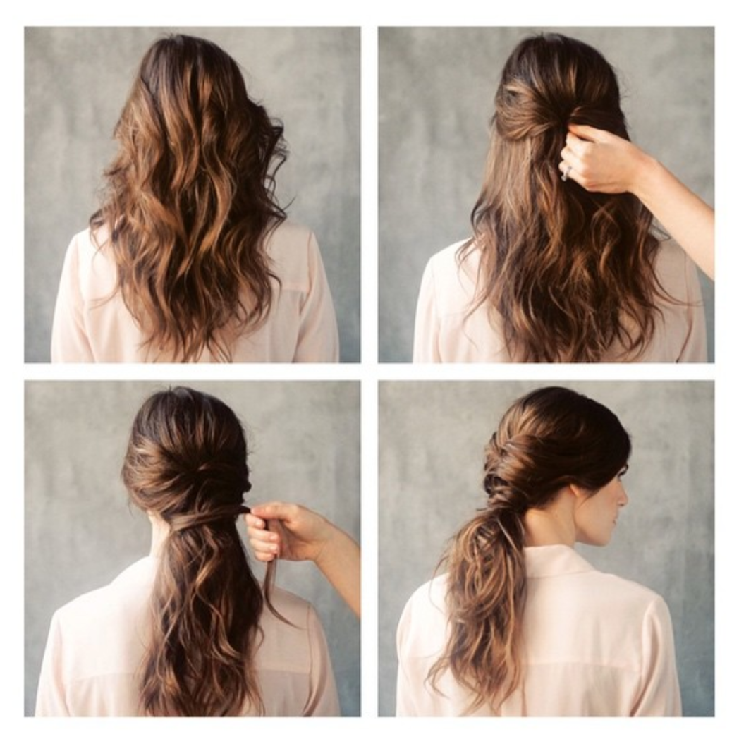 Diy low twisted pony on wedding sparrow photography by rustic white