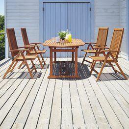 Pöytä GRIMSTAD P230+4 tuolia KAMSTRUP