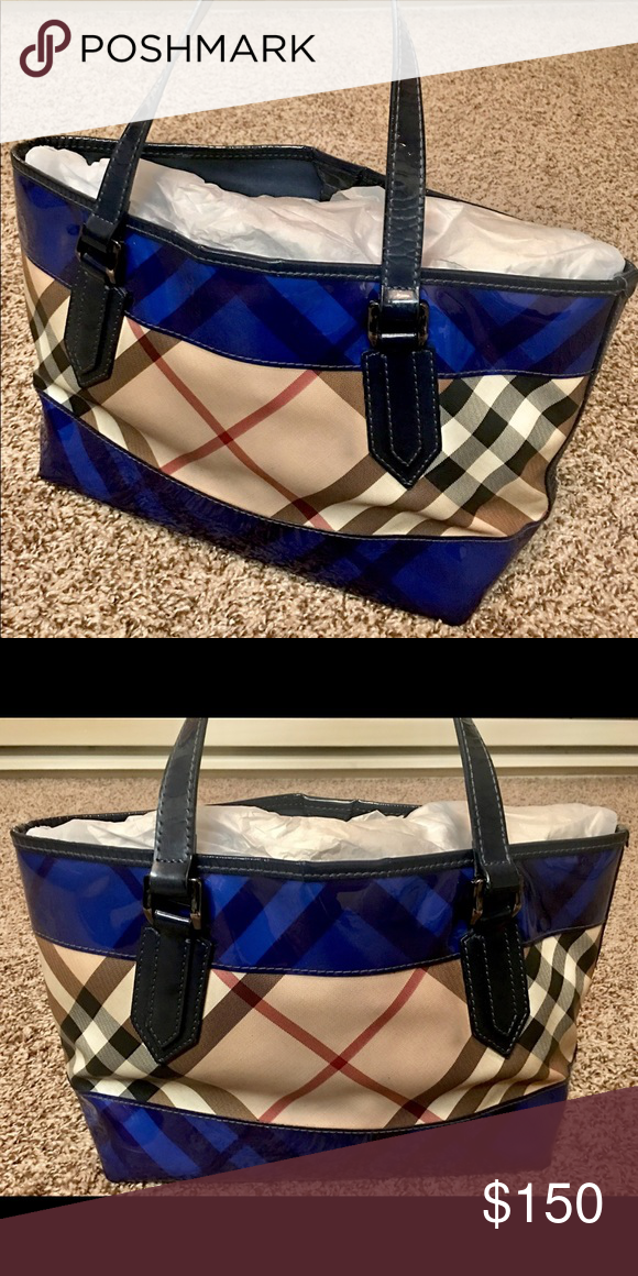 Pre-Owned Authentic Burberry Nova Perspex Tote I have a used authentic  Burberry Nova Perspex b12b179a3a