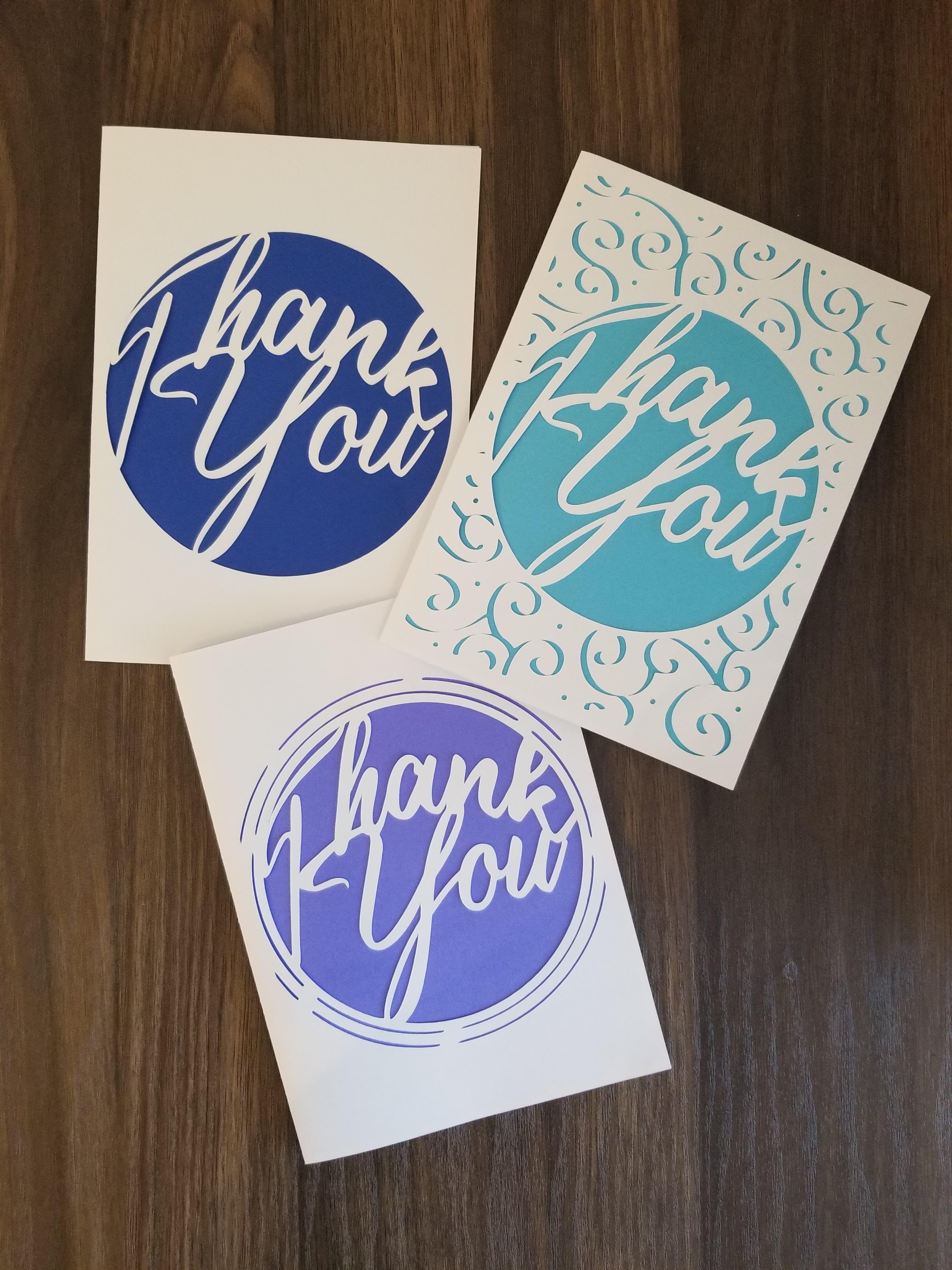 printable cricut template detailed elegant thank you card