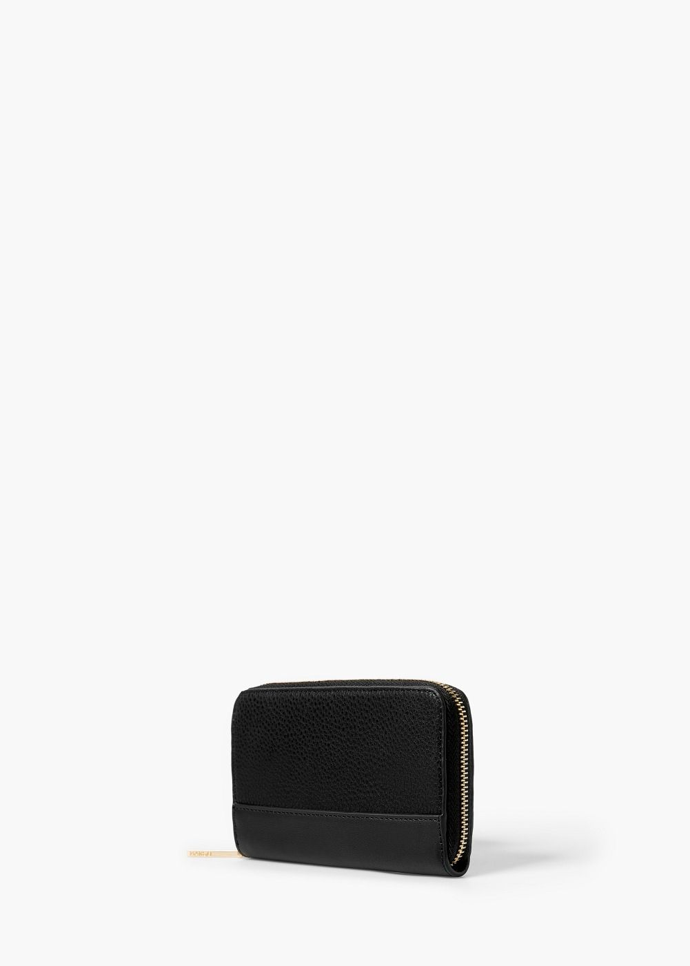 Zip pebbled wallet woman