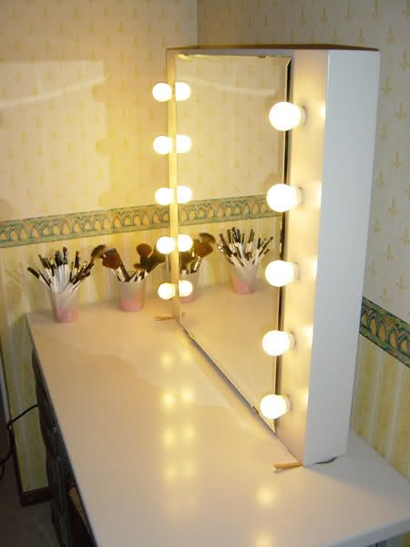 Make-up Studio Mirror/table for small spaces..Get Inspired