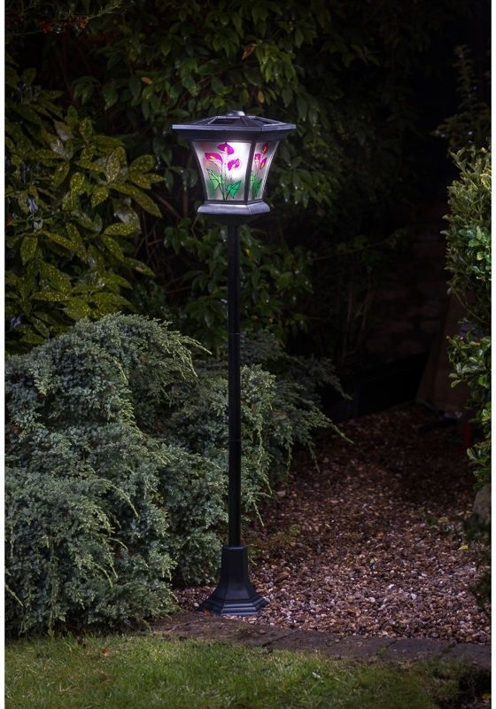 Solar garden lights led stained glass light outdoor decor yard solar garden lights led stained glass light outdoor decor yard powered lamp post aloadofball Image collections