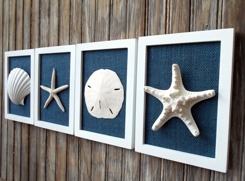 Cottage Chic Set Of Beach Wall Art Nautical Decor Beach House Wall