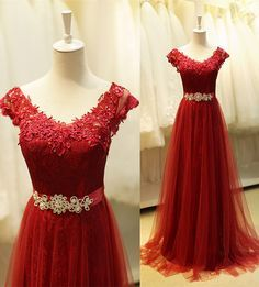 "burgundy prom dress , prom dress long, evening dress long , long party dress, lace prom dress, lace evening dress, custom make occasssion prom dress on <a href=""http://www.babyonlinedress.com"" rel=""nofollow"" target=""_blank"">www.babyonlinedre...</a>"