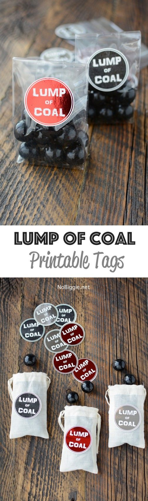 Lump Of Coal Printable Tags Gift Tags Printable Printable Tags