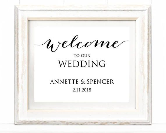 Welcome To Our Wedding Reception Sign Template Instantly Edit And Print Your Own Signs This Listing Is For 1 Digital Pdf You