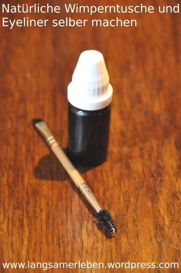 Natürliche Wimperntusche und Eyeliner selber machen : Natürliche Wimperntusche und Eyeliner selbe