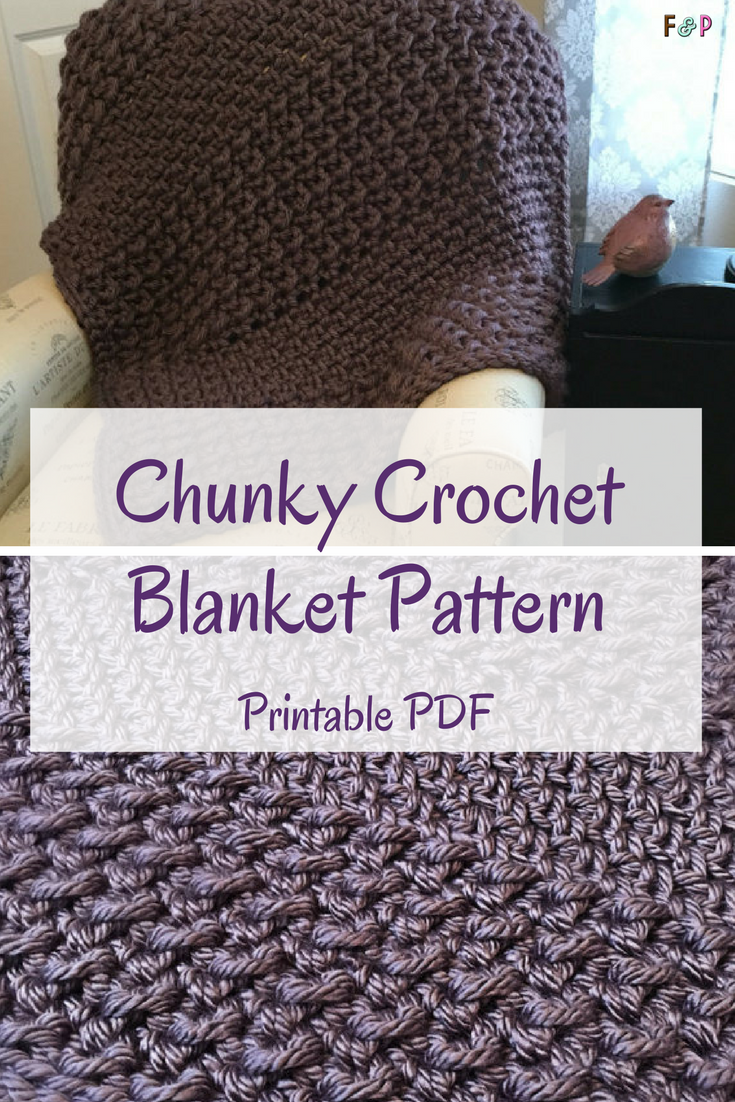 Super easy chunky crochet blanket pattern! Great as a gift! #ad ...