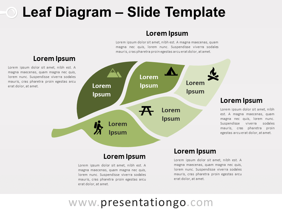 Leaf Diagram For Powerpoint And Google Slides Presentationgo Com In 2020 Powerpoint Google Slides Diagram