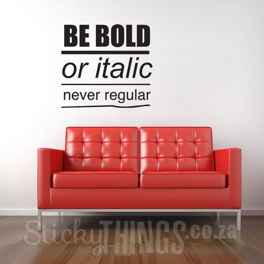 Good Office Wall Art Decal Quote