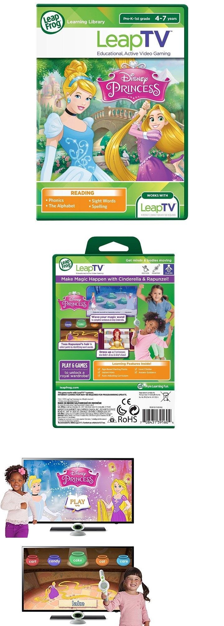Learning Systems 158695 Leap Frog Leaptv Disney Princess