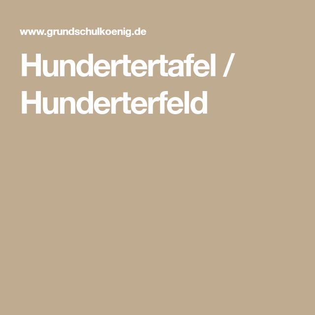 Hundertertafel / Hunderterfeld | Mathe | Pinterest | Mathe, Klasse ...