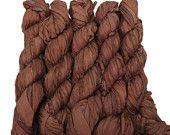 SALE New! Sari Silk Ribbon, 100g skein, Mocha