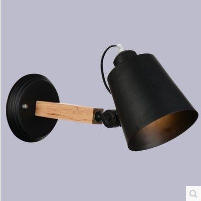 Nordic Moderne LED Wandlamp Armaturen Met Zwart/Witte Lampenkap Voor ...